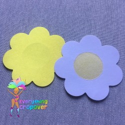 pink, blue and purple star nipple covers