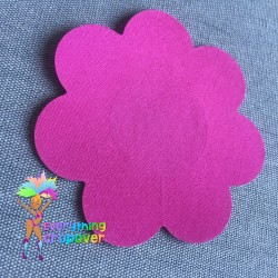 Black petal nipple covers