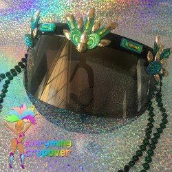 Black round nipple covers