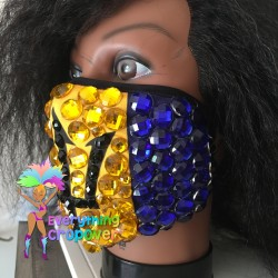 Blue round nipple covers