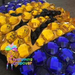 Dark green round nipple covers